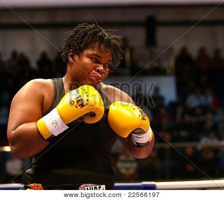 The The Fight. Boxer Pamela London (Guyana)