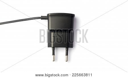 Electric Plug Isolated On White Background, Adapter Concept
