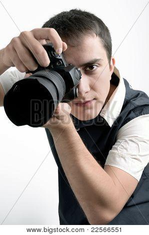 Paparazzi With Digital Camera