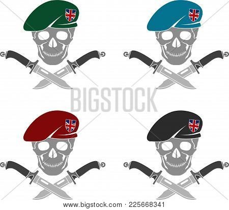 Set Of Sign Of Special Forces Of Great Britain. Vector Illustration