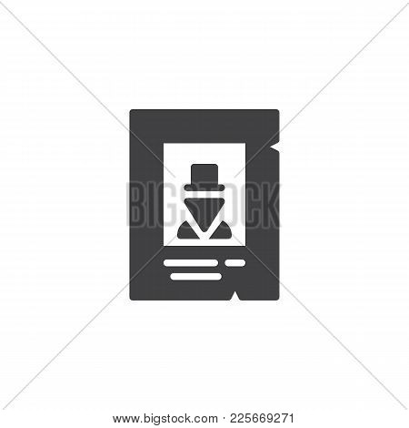 Western Wanted Poster Icon Vector, Filled Flat Sign, Solid Pictogram Isolated On White. Symbol, Logo