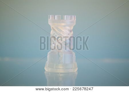 One Object Photopolymer Printed On 3d Printer. Stereolithography 3d Printer, Technology Liquid Photo