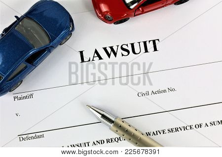 An Concept Image Of A Lawsuit - Abstract