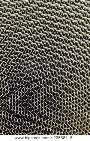 Corrugated Board Close Up As Abstract Vertical Background.