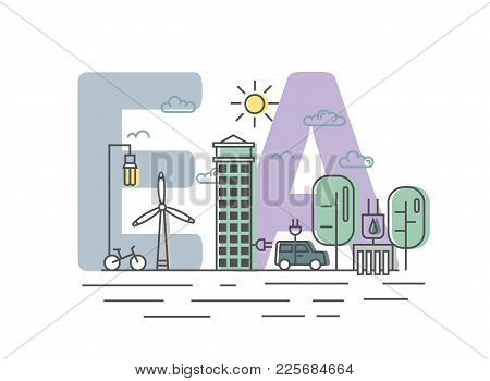 Environmental Assessment, Ea. Assessment Of The Environmental Consequences. Concept Vector Illustrat