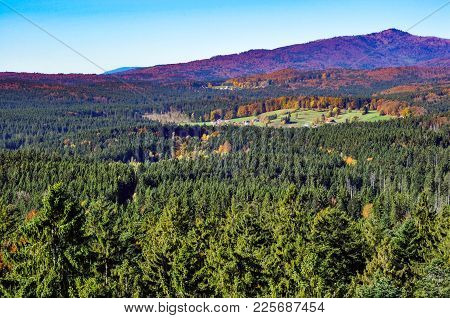 A German Village In The Middle Of The Bavarian Forest