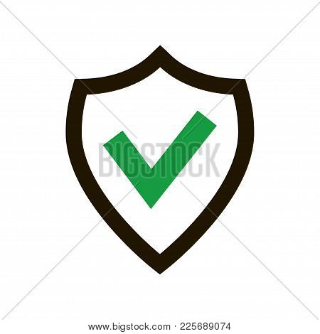 Tick Mark Approved Icon Isolated On White Background