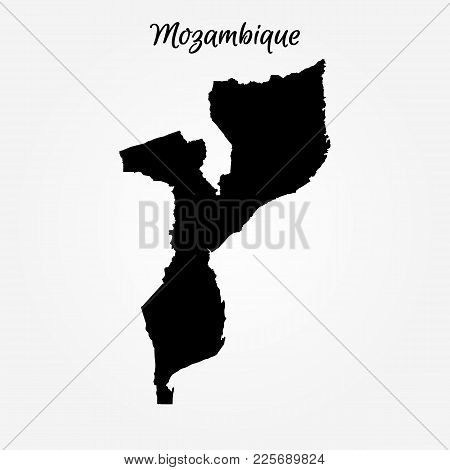 Map Of Mozambique. Vector Illustration. World Map