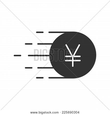 Flying Yen Glyph Icon Vector Photo Free Trial Bigstock
