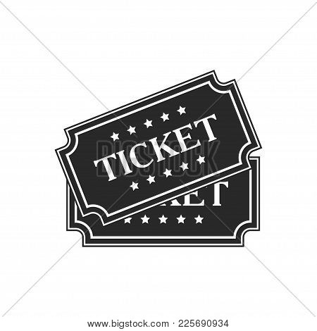 Ticket Vector Icon Isolated On White Background