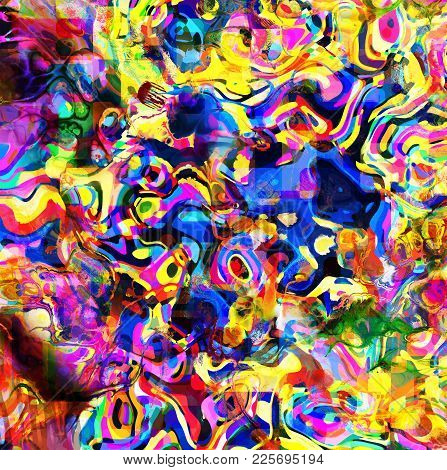 A Really Crazy And Colorful Abstract Background.