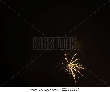 Firework Shot In The Sky At New Year