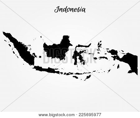Map Of Indonesia. Vector Illustration. World Map