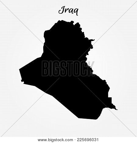 Map Of Iraq. Vector Illustration. World Map