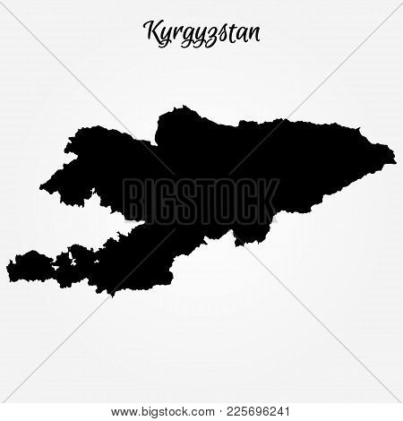 Map Of Kyrgyzstan. Vector Illustration. World Map