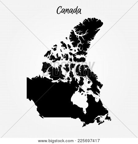 Map Of Canada. Vector Illustration. World Map