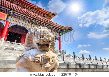Wat Borom Raja Kanchanapisek Anusorn, Commonly Known As Wat Leng-noei-yi 2 Thai-chinese Style Temple