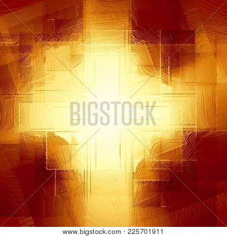 abstract  copper background of squares cruciform