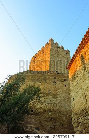 The Tower Of The Medieval Castle Of Peratallada. Catalonia, Spain