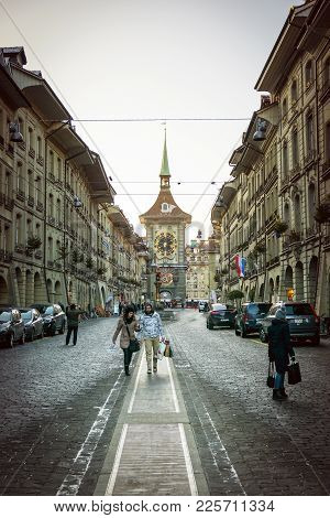 Bern, Switzerland-jan 3, 2017: Another Highlight For The City Of Bern Switzerland It Is A Visit To T