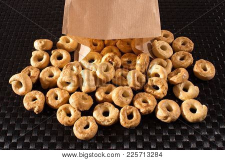 Italian Taralli Crackers, Similar In Texture To A Breadstick Or Pretzel And Available As Savory Or S