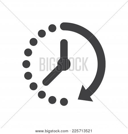 Passage Of Time Icon Vector. Flat Design Style