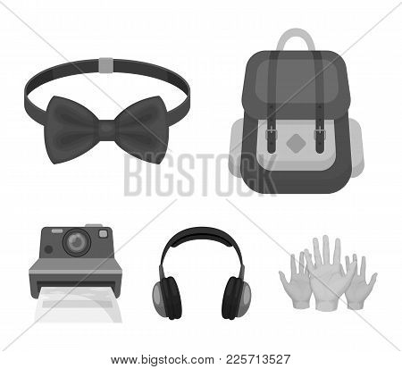 Hipster, Fashion, Style, Subculture .hipster Style Set Collection Icons In Monochrome Style Vector S