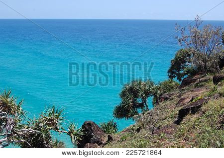Sea View From Hill On Fraser Island