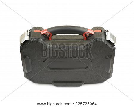 Black Tool Box Case Isolated Over The White Background