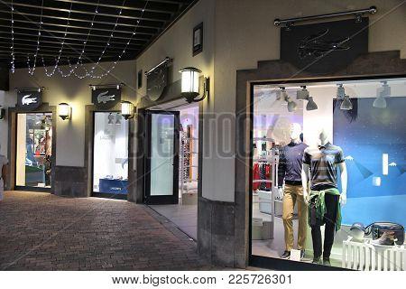 Gran Canaria, Spain - December 4, 2015: Lacoste Fashion Shop Window In Gran Canaria, Spain. Canary I