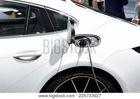 Dubai, Uae - November 17: The Porsche Panamera E-hybrid Car Is On Dubai Motor Show 2017 On November