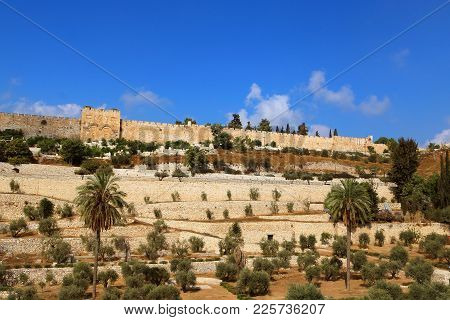 The Golden Gate Or Gate Of Mercy On The East-side Of The Temple Mount Of The Old City Of Jerusalem,