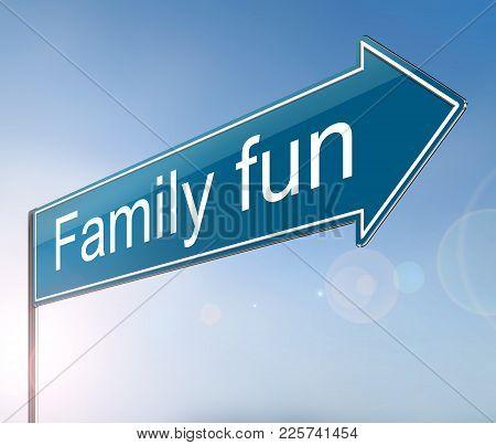 Family Fun Concept.