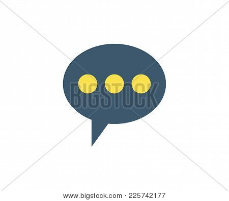 Comment Icon. Vector Illustration In Flat Minimalist Style.