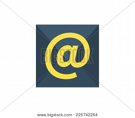 E-mail Icon. Vector Illustration In Flat Minimalist Style.