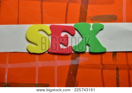 Word Sex On An   Abstract Colored Background