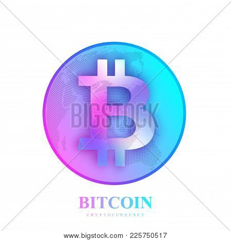 Bitcoin. Physical Bit Coin. Bitcoin Digital Currency Coin Damage World Finance System. Cryptocurrenc