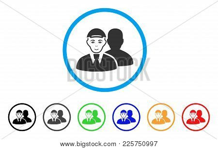 Person Shadow Rounded Icon. Style Is A Flat Person Shadow Gray Symbol Inside Light Blue Circle With