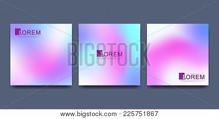 Modern Vector Template For Square Brochure Leaflet Flyer Cover Catalog Poster Advert . Abstract Flui
