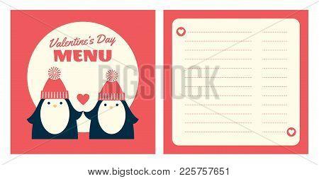 Valentine Menu Penguins Square