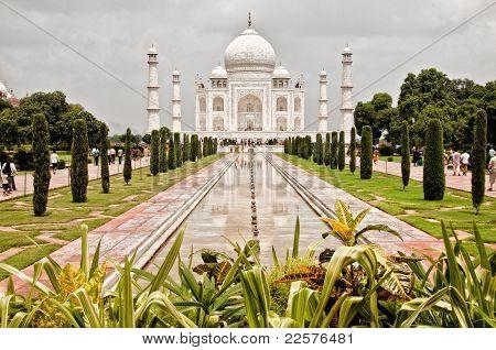 Taj Mahal with garden foreground