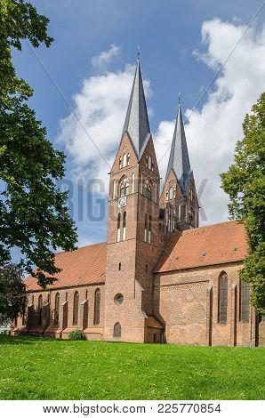 Brick Gothic Monastery Holy Trinity Church - The Landmark Of Neuruppin, A Town In Brandenburg, Germa