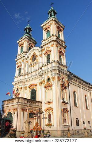 The Historic Church Of Divine Providence In Bielsko-biała From The 18th Century.