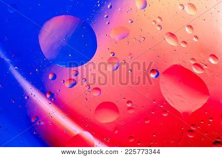 Abstract Stains And Drops On The Whole Frame