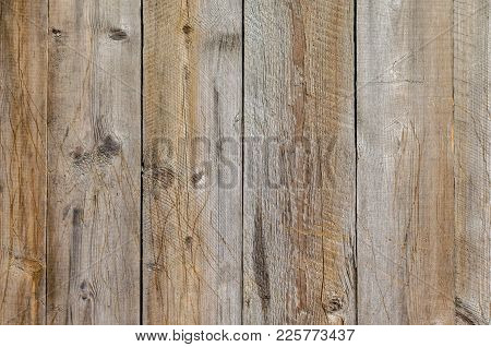 Texture Of Old Wooden Planks Over The Whole Frame