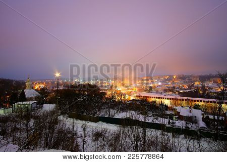 Beautiful Views Of Evening Smolensk In The Winter. Evening Smolensk In Winter - Snow Covered Snow Bl