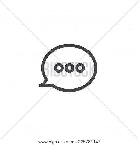 Speech Bubble Message / Messaging Icon Showing Words Being Said By One Party