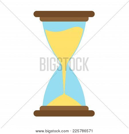 Hourglass Icon Vector Time Sand Hour Clock Glass Design Illustration. Timer Concept Minute Countdown