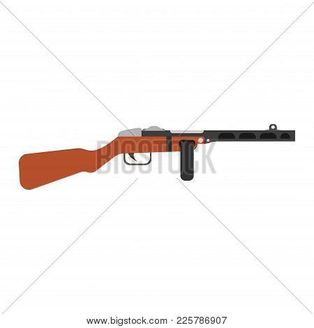 Gungster Gun Cartoon Vector Mafia Illustration. Man Weapon Hat Crime Pistol Black Criminal. Retro Is