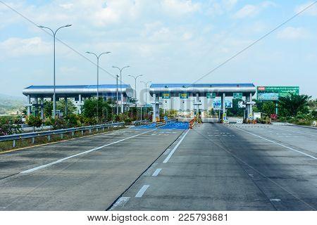Toll Gate, 115 Miles Away From Yangon, On Yangon-mandalay Express Way, Myanmar, Feb-2018